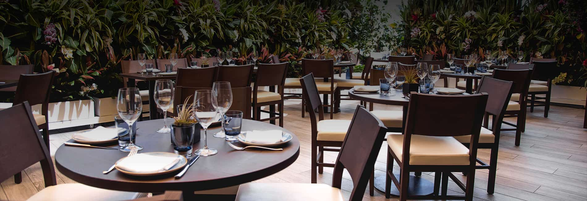 Serafina Miami - courtyard of the restaurant